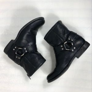 FRYE Vintage Leather Phillip Harness ankle boots